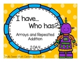2.OA.4 I Have Who Has Arrays and Repeated Addition Game