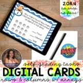 2OA4 Rectangular Arrays (Columns and Rows) Boom Cards™ | D