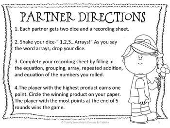 2.OA.4 Roll an Array! Dice Game for Gr. 2-3
