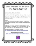 2nd Grade Math: 2.OA.A.1 Word Problems for 2nd Grade Assessment Pre & Post Test