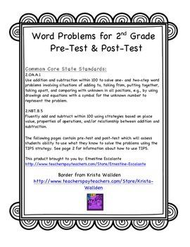 2nd Grade Math: 2.OA.A.1 Word Problems for 2nd Grade Asses