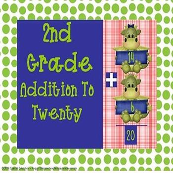 2.OA.B.2 2nd Grade Dragon Addition To Twenty SPED/ELD/Autism/ID/CP
