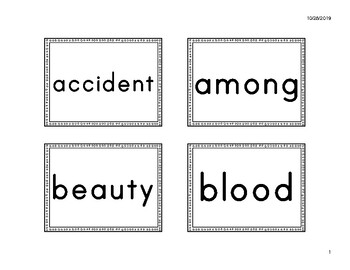 2R Power Word Cards (fit Pocket Charts) - American Reading Company (ARC) aligned