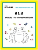 """2SL - """"A List"""" from Frog and Toad Together Comprehensive Story Reading Unit"""