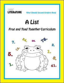 """2SL - """"A List"""" From Frog and Toad Together Curriculum"""