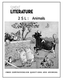 2SL - Animals - FREE Comprehension Questions and Answers