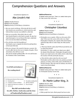 2SL - Famous People - FREE Comprehension Questions and Answers
