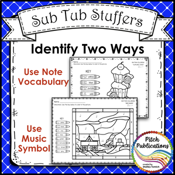 Rhythm Coloring 2 {BUNDLE} - Color by Note -Half Note, Quarter Note/Rest, Eighth