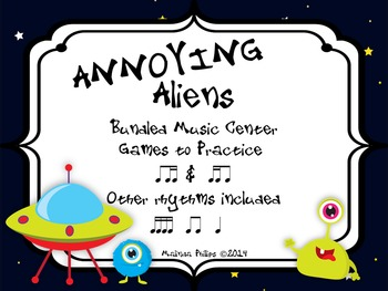 Annoying Aliens: Bundled Ti-Tika & Tika-Ti Printable PDF Game