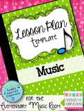 Music Lesson Plan Templates