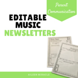 Editable Music Newsletters