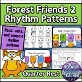 Forest Friends 2 Rhythm Pattern Practice -ta, ti-ti, rest