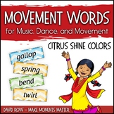 Movement Word Wall for Music, Dance, or Movement - Citrus
