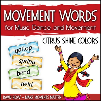 Movement Words for Music, Dance, or Movement - locomotor/n