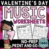 Valentine Mega Pack of Music Worksheets- 82 Pages!