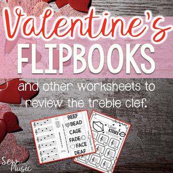 Valentine's Day Treble Clef Flipbooks