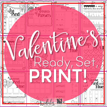 Valentine's Music Printables {Ready Set Print}