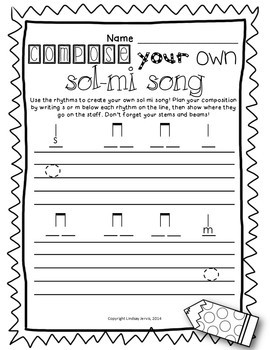 Music Worksheets for Sol and Mi {Ready Set Print!}