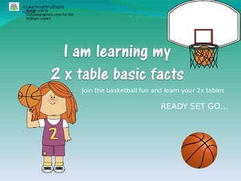 TWO TIMES TABLES BOUNCING BASKETBALL SLIDE SHOW