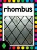 2D & 3D Shapes Posters {White & Rainbow Dot Theme}