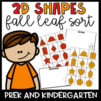 2d Leaf Shape Sort- Fall Themed Math Center