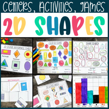2d Shape Activity Pack- Sorting, Searching, Counting, Graphing!