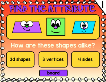 2d Shape Attributes Powerpoint Game
