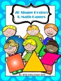 2d Shape Poster and Math Games/Activities