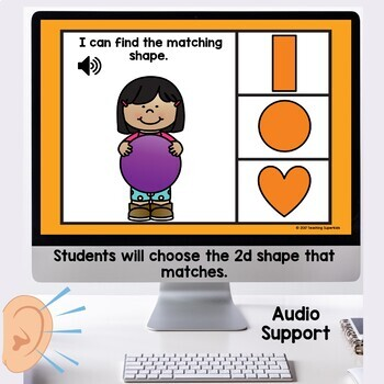 2d Shape Practice Digital Task Cards Boom