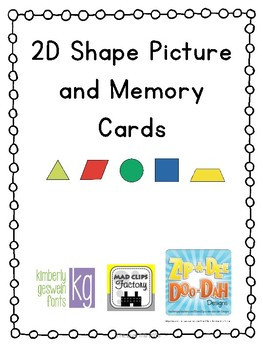 2D Shapes Picture and Memory Cards