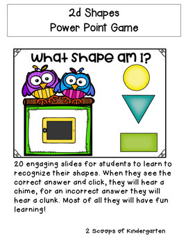2d Shapes Power Point Game