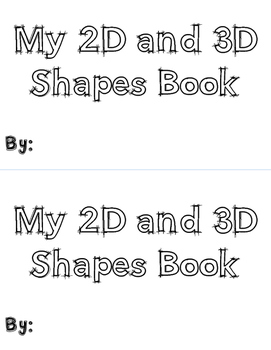2d and 3D Shapes book