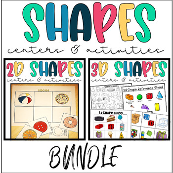 2d and 3d Shape Activities with Real World Shapes BUNDLE