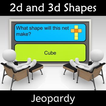 2d and 3d Shape Geometry Vocabulary Fun Game
