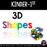 3D Shapes Centers for Kindergarten and First Grade