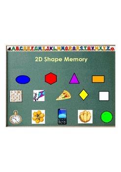Kindergarten 2d&3d Shape Match Common Core Aligned