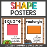 2d and 3d Shape Posters with Woodland Animals