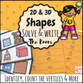 2d and 3d Shapes First Grade Write the Room