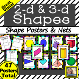 Area and Volume 2d and 3d Shape Posters