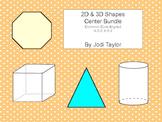2d and 3d shape centers 1 & 2 bundle