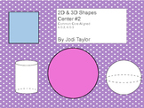 2d and 3d shape centers #2