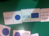 2d shapes and attributes dominoes game