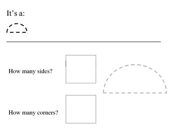 2d shapes corners and edges worksheets