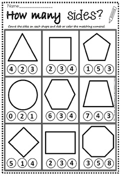 2d shapes how many sides by Eye Popping Fun Resources | TpT