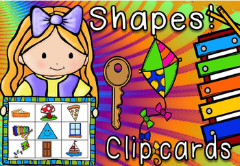2d shapes in the environment clip cards