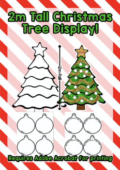 Christmas Tree Display Board.2m Tall Christmas Tree Bulletin Board Display