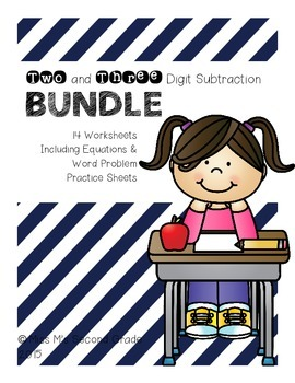 Two & Three Digit Subtraction BUNDLE