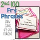 2nd 100 Fry Phrases Task Cards