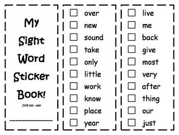 2nd 100 Fry Sight Words Mastery Book