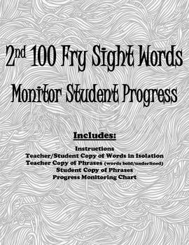 2nd 100 Fry Sight Words: Progress Monitoring Packet